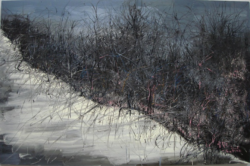 Zeng Fanzhi, This land is so rich in beauty 2, 2006, Oil on canvas, 215 x 330 cm