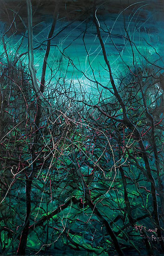 Zeng Fanzhi, Untitled 08-4-9, 2008, Oil on canvas, 280 x 180 cm