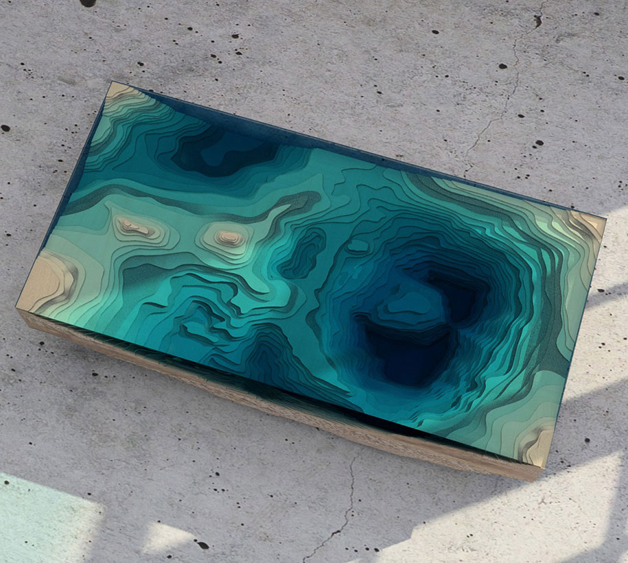 Amazing Coffee Tables amazing coffee table resembles the depths of the ocean quite
