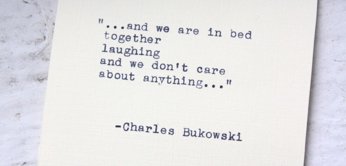 25 lessons from Charles Bukowski   Art-Sheep