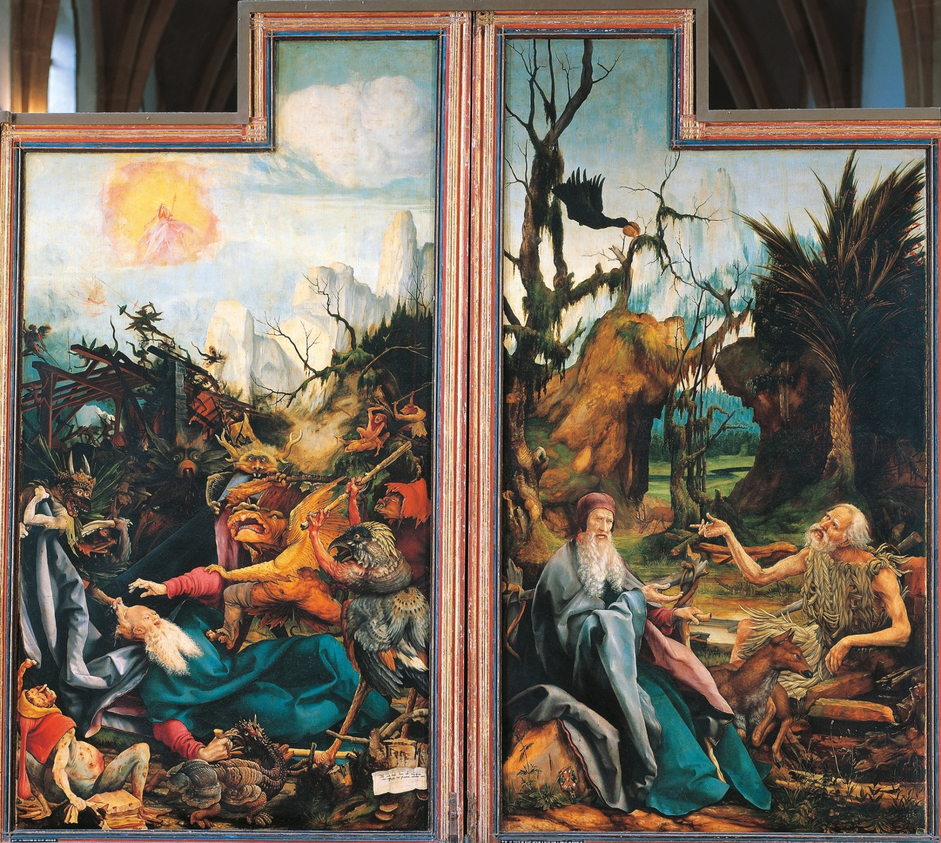 Matthias Grunewald – The Temptation of St. Anthony (c. 1512 - 16)