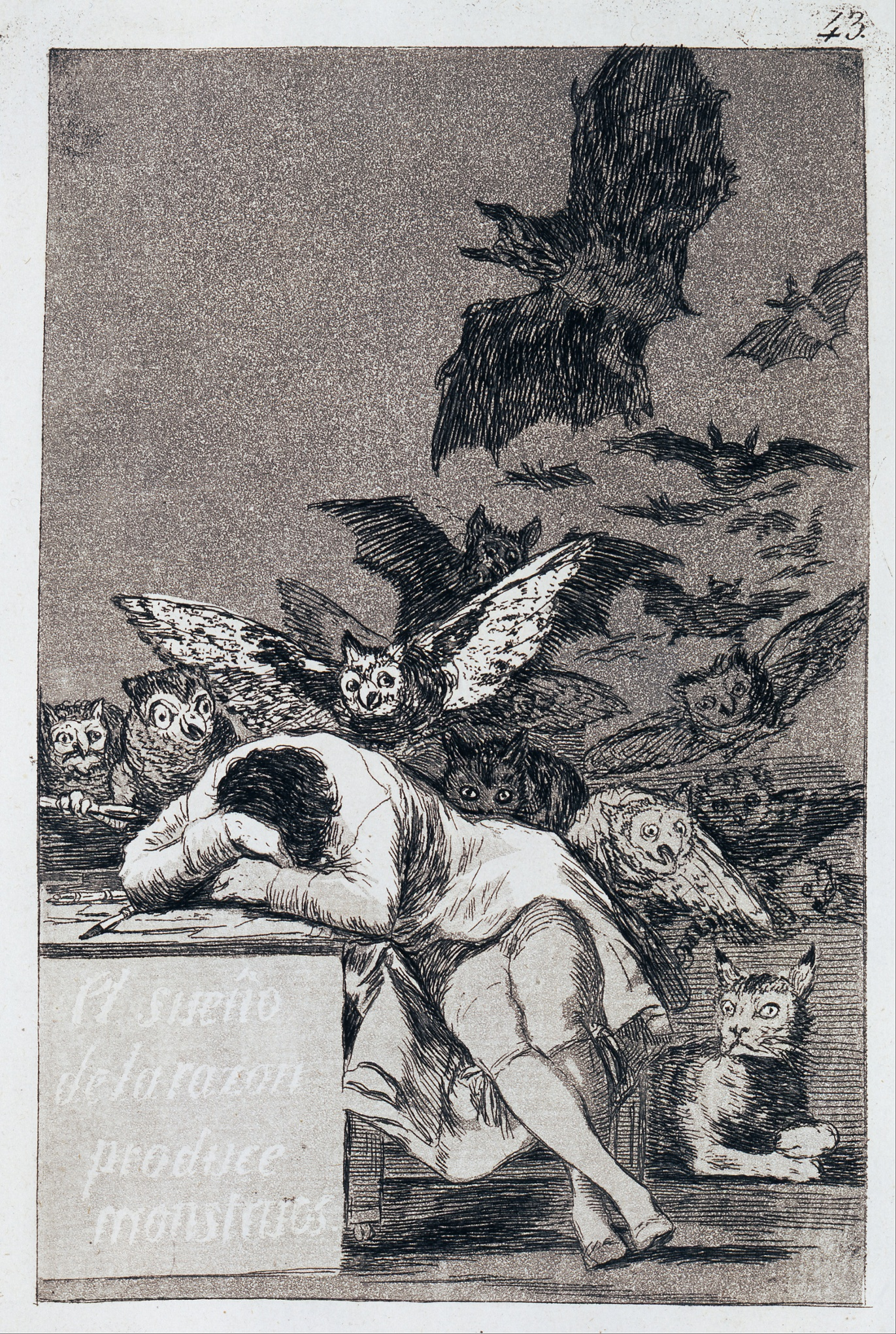 Francisco Goya y Lucientes – The sleep of reason produces monsters (c. 1799)