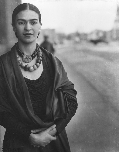 "Frida Kahlo outside the Michigan Central Depot in April 1932.  A Detroit News reporter asked her if she was an artist. Her answer. ""Yes, the greatest in the world."" Photo: The Detroit News"