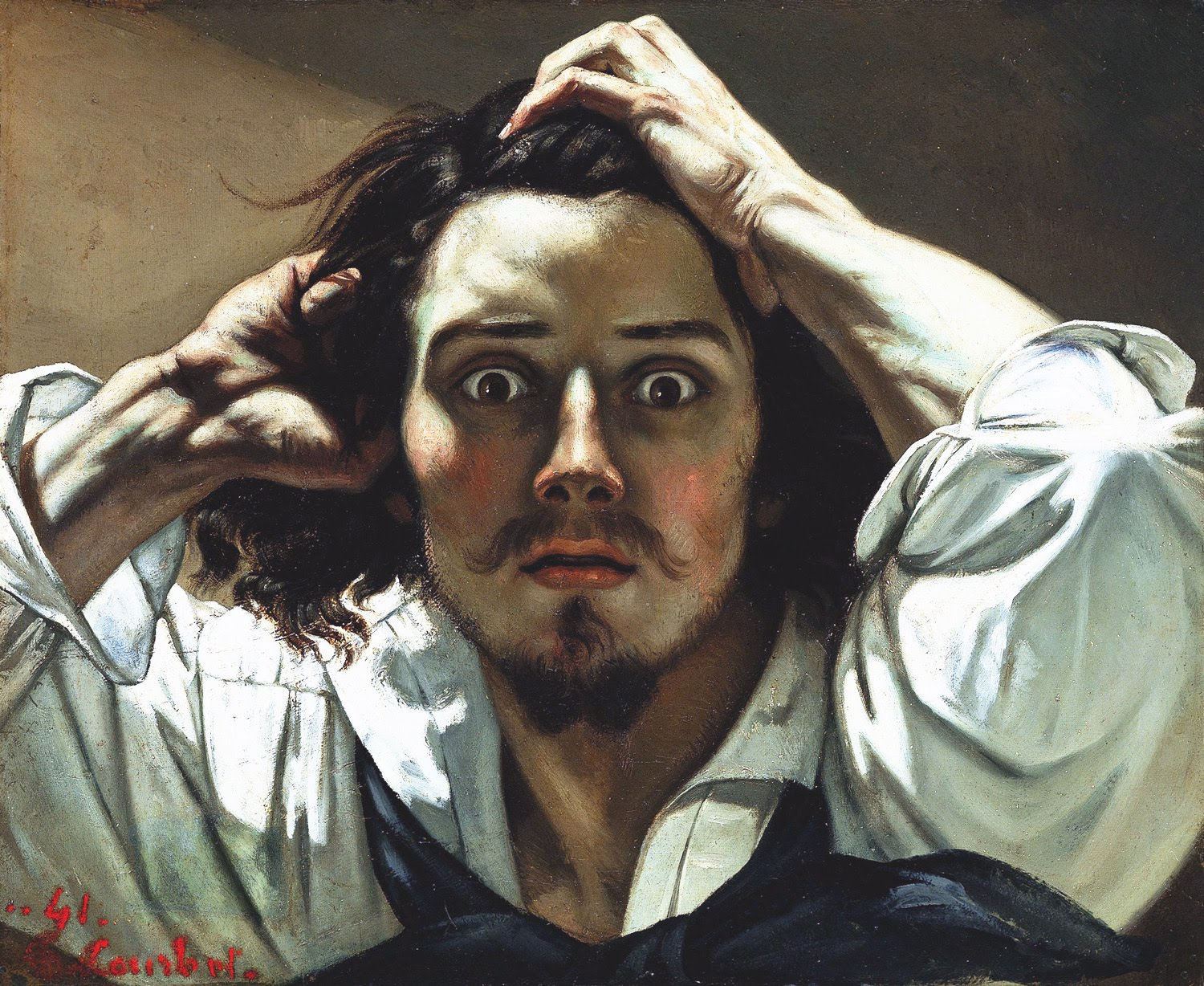 Self-portrait (The Desperate Man), c. 1843–45 (Private collection)