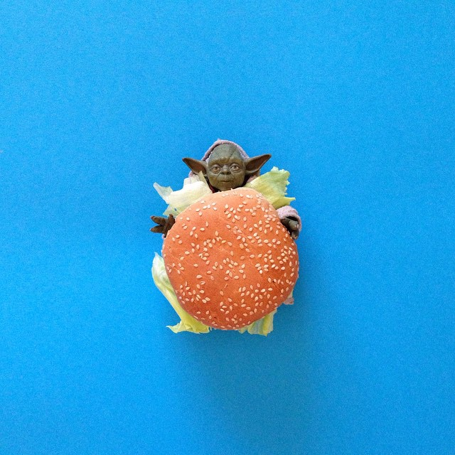 It's a veggie burger, but I love McYoda