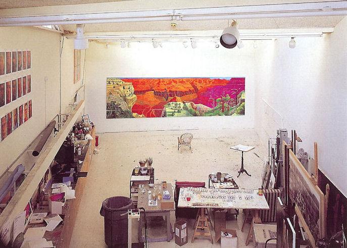 David Hockney, painter.