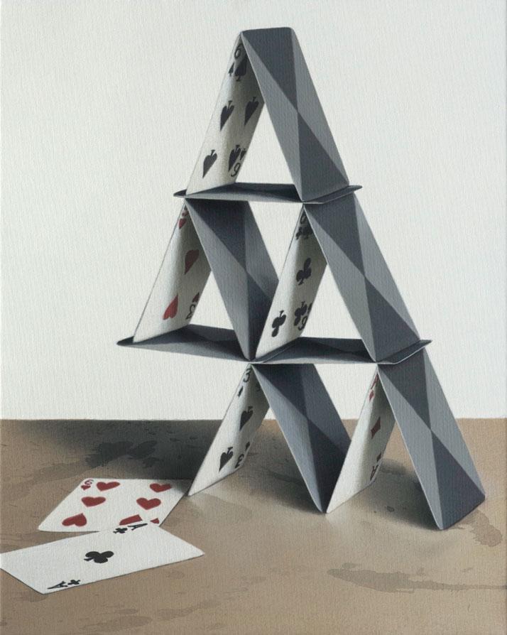 Eckart Hahn, Dom 2, 2011. Acrylic on canvas, 40 x 32 cm. Photo courtesy of Wagner + Partner Berlin.