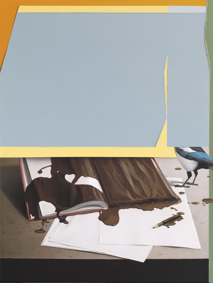 Eckart Hahn, Diary, 2014. Acrylic on canvas, 80 x 60 cm. Photo courtesy of Wagner + Partner Berlin.