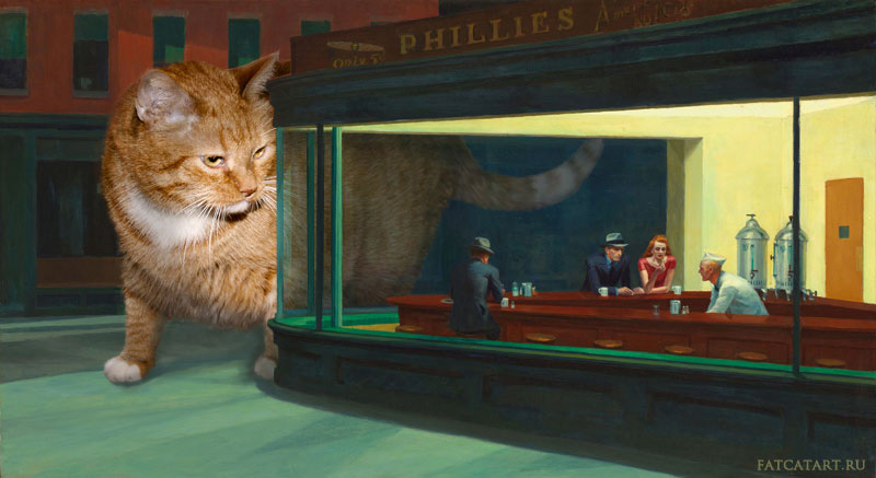fat-cat-photoshopped-into-famous-artworks-1