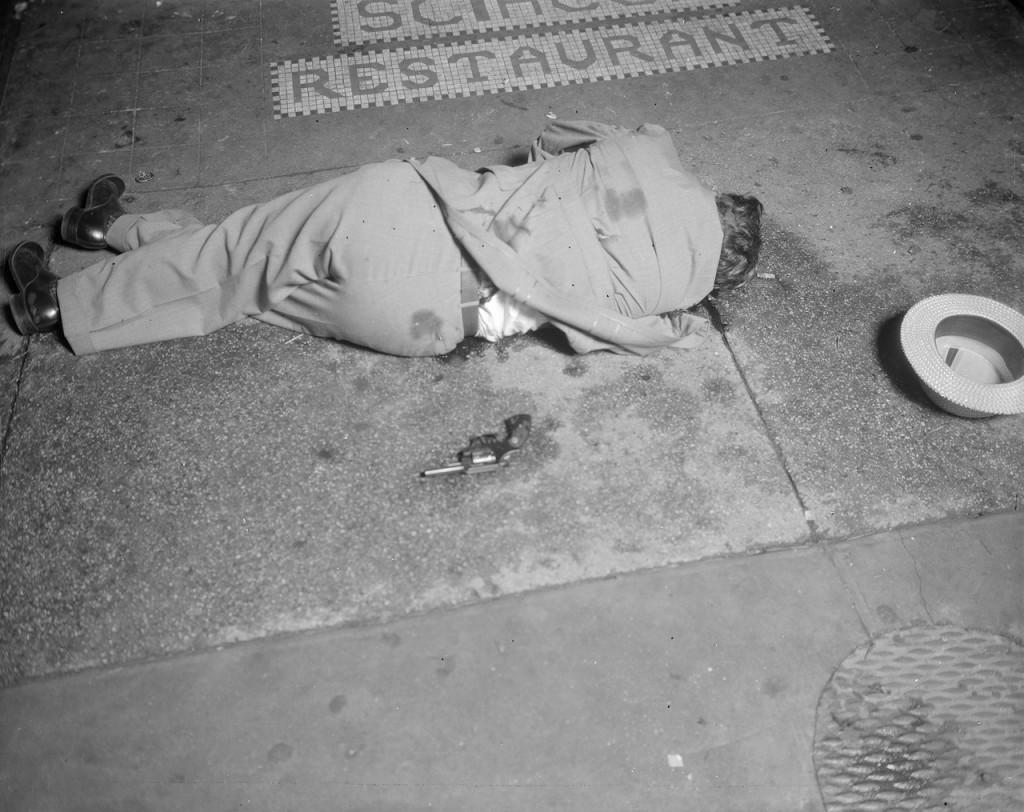 Murder victim Dominick Didato on Elizabeth Street (1936) (courtesy New York City Municipal Archives)