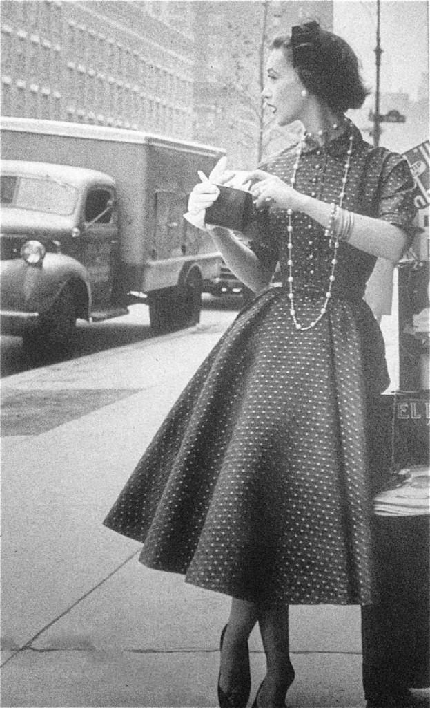 Polka dot dress, 1954.