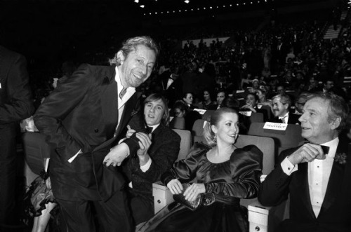 Serge Gainsbourg, Gérard Depardieu, Catherine Deneuve and Yves Montand