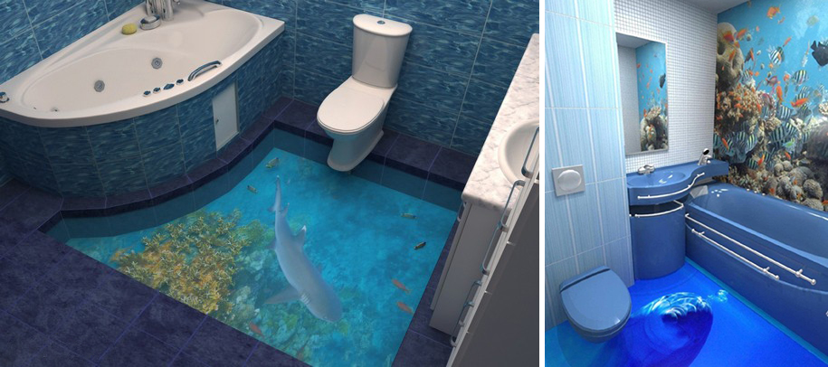 These D Floors Will Make Your House Look Like An Ocean ArtSheep - 3d acrylic floors