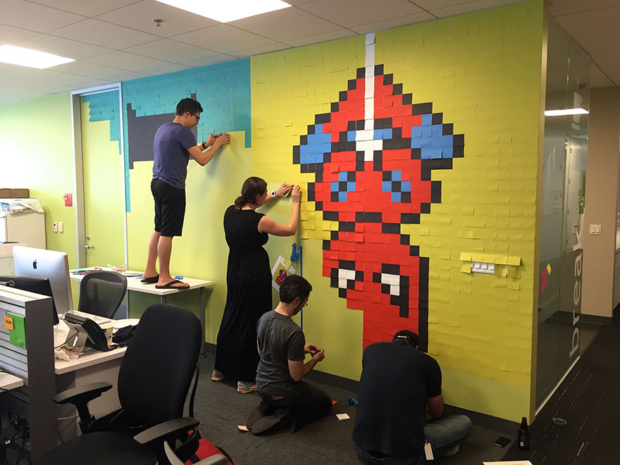 office-wall-post-it-art-superheroes-ben-brucker-17