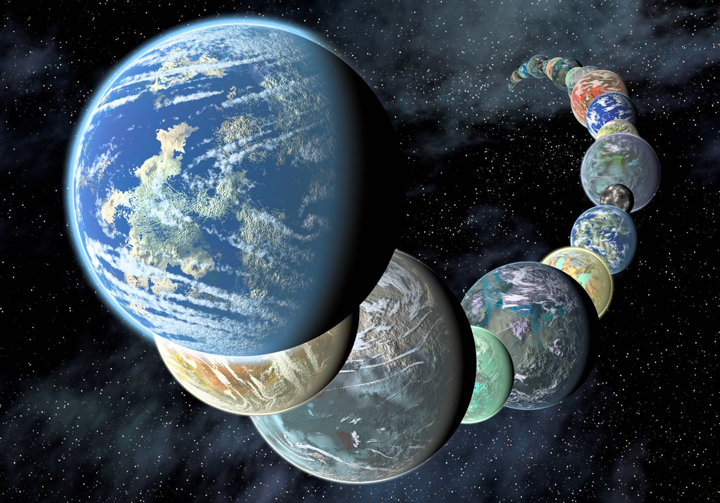 NASA-illustration-of-planets-discovered-by-the-Kepler-telescope-used-by-AmericaSpace