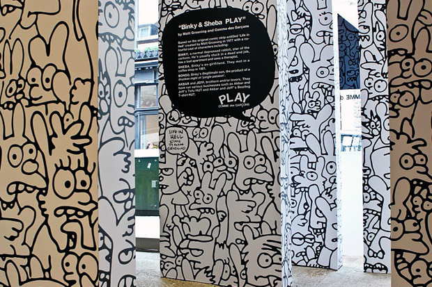 comme-des-garcons-matt-groening-binky-sheba-play-installation-dover-street-market-5