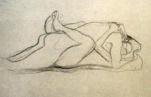 klimt-recumbent-lovers