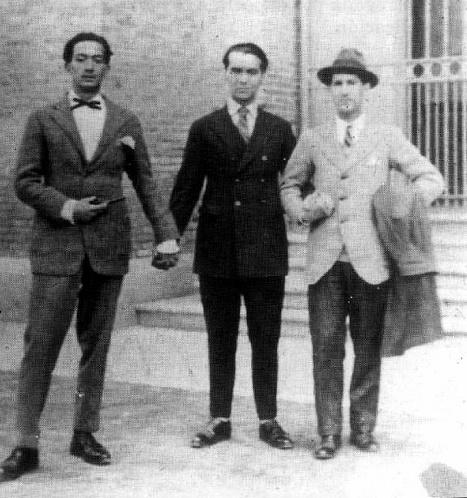 Salvador Dalí, Federico García Lorca and Jose