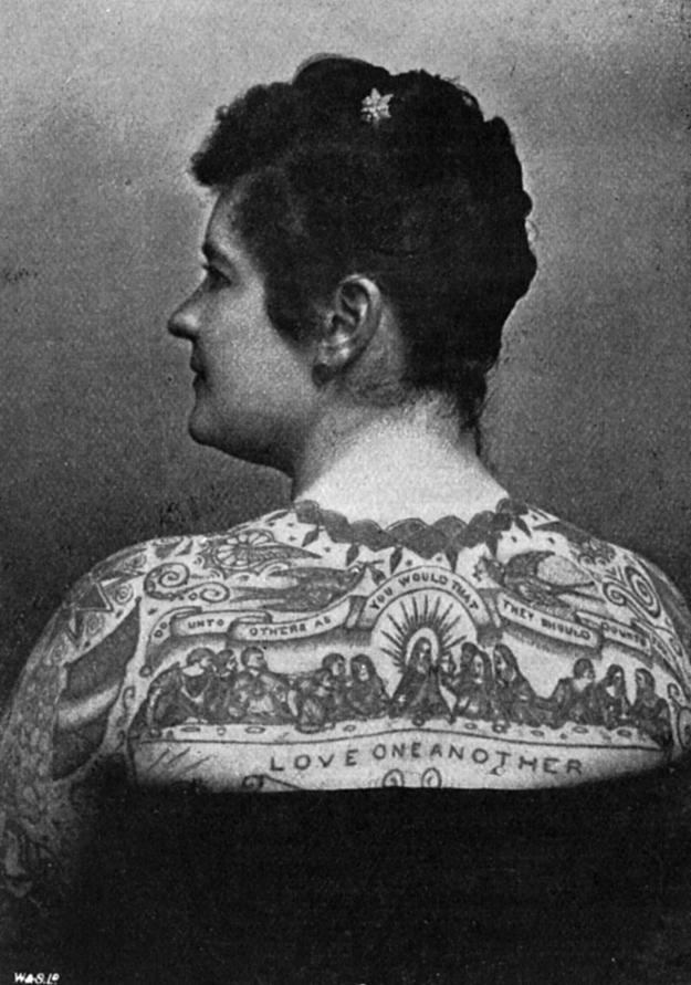 18 Vintage Photos of Tattooed Women from the 1890s to the