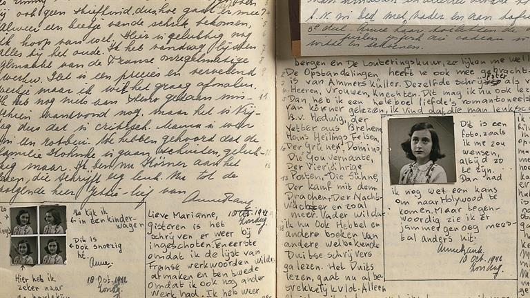Anne Frank wrote her diary from June 12, 1942 to August 1, 1944.