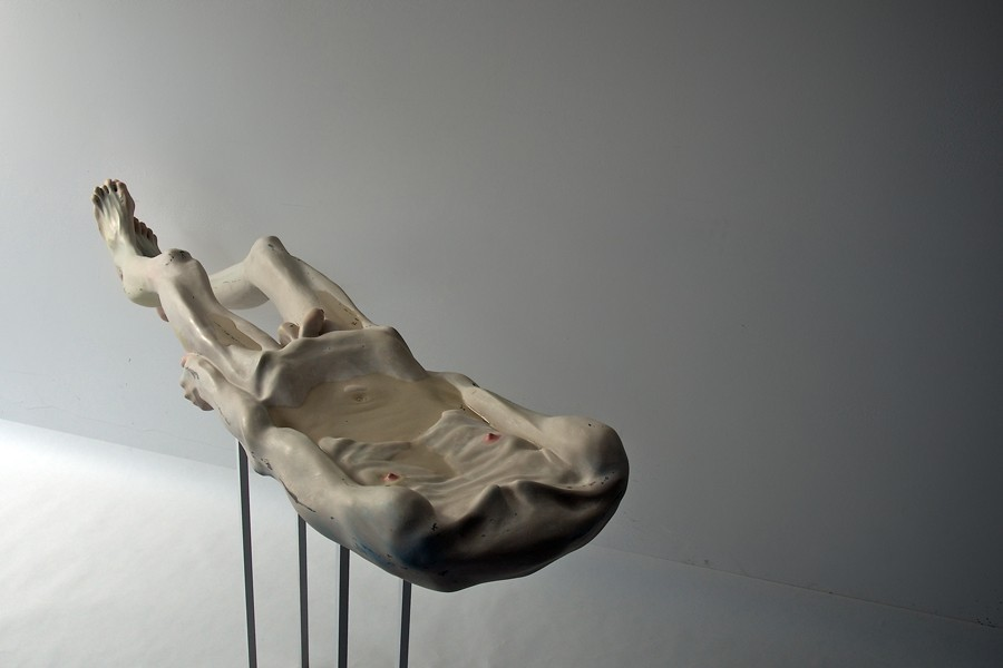 Bogdan-Raţa-Trying-to-Keep-Life-2012-polyester-synthetic-resin-fibre-paint-metal-water-153-x-365-x-17-cm-e1431890351903