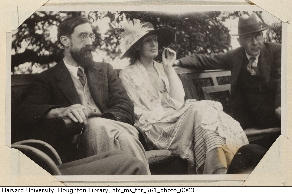 Lytton Strachey, Virginia Woolf, and Goldsworthy Lowes, 1923.