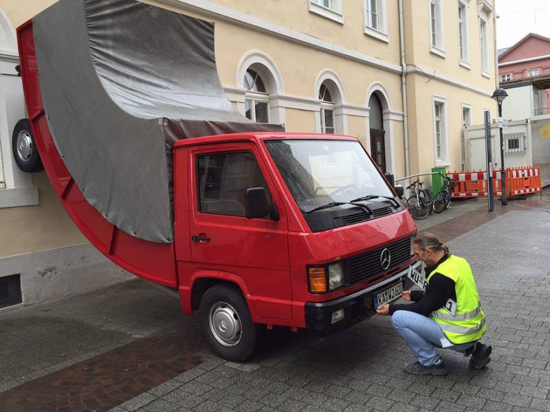 bent-truck-parking-ticket-germany-Erwin-Wurm-7