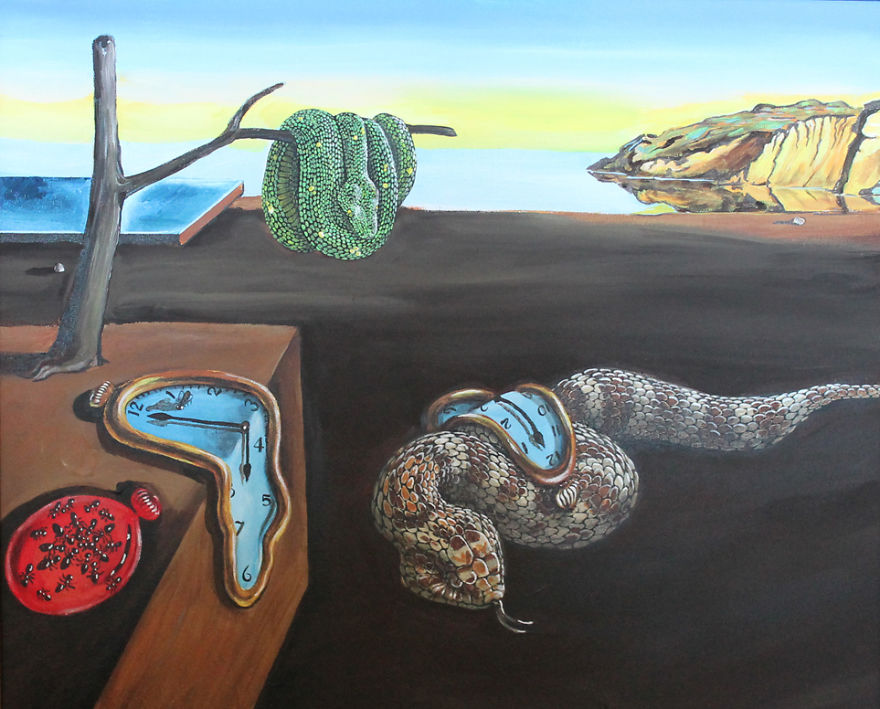 Snakes Take Over The Most Famous Paintings in The History of Art ...