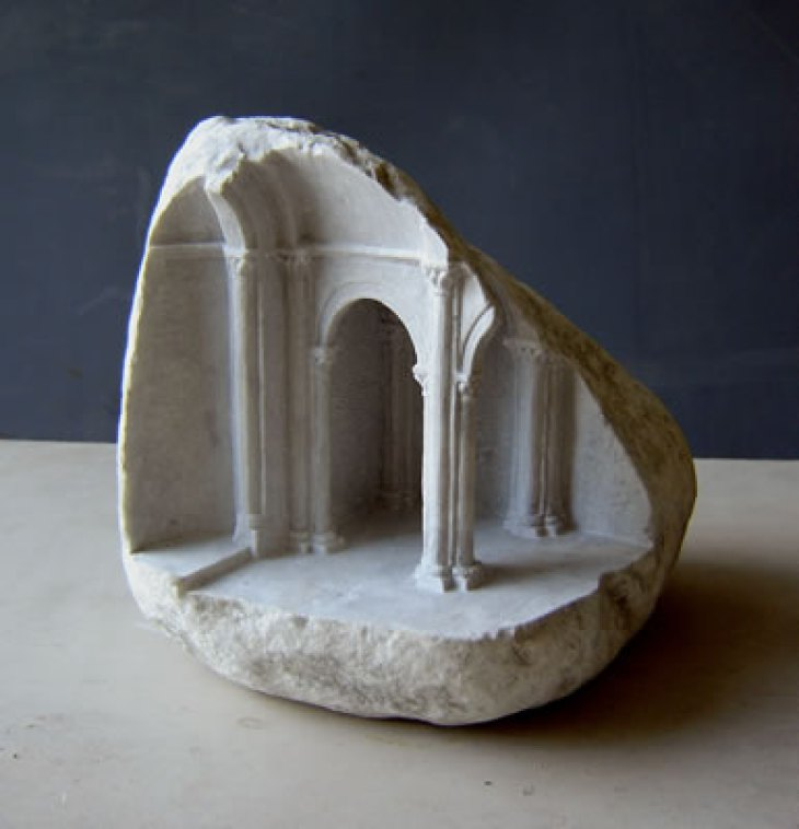 Artist Creates Small Scale Sculptures Of Ancient Ruins
