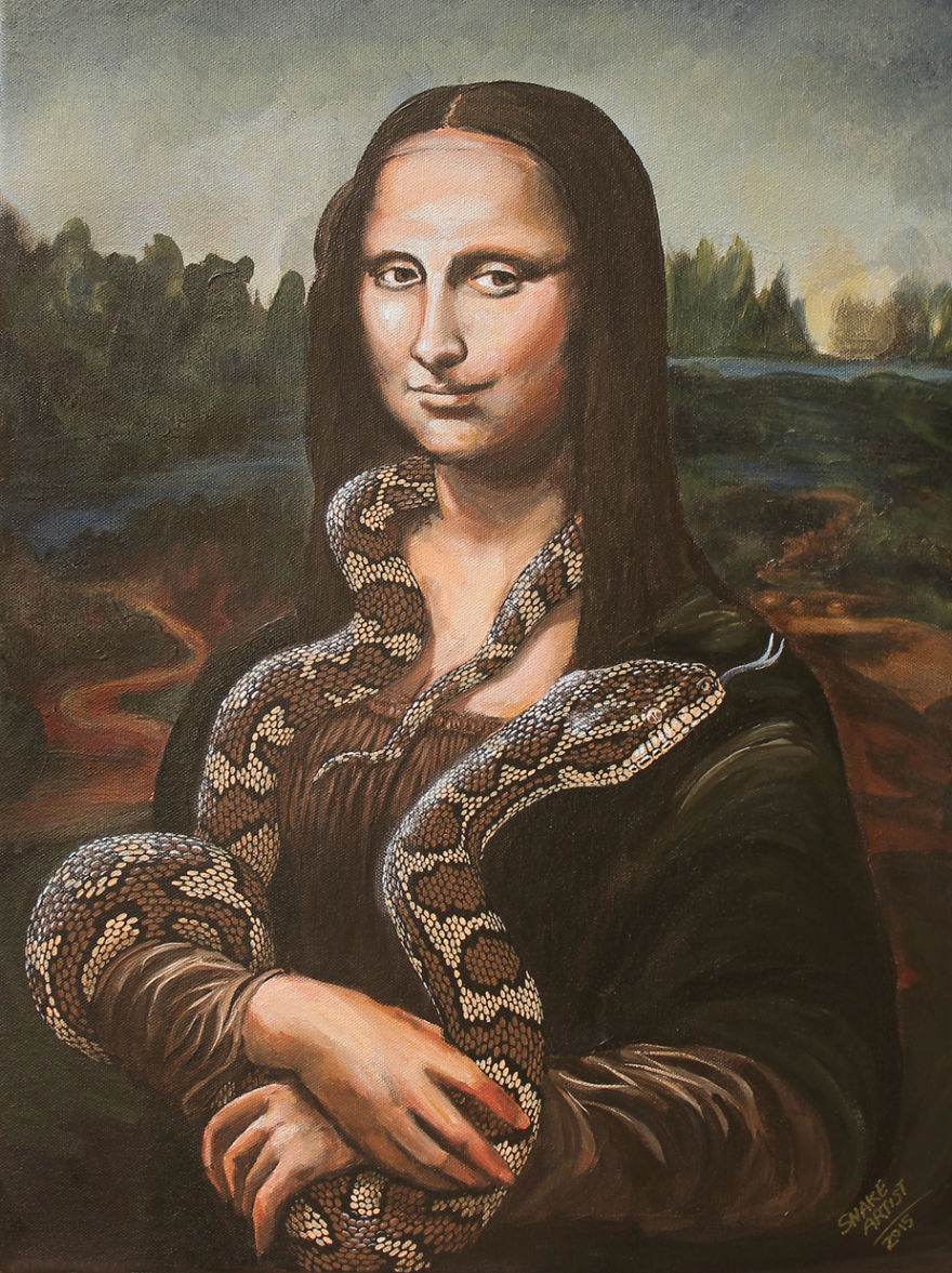 Snakes Take Over The Most Famous Paintings In The History