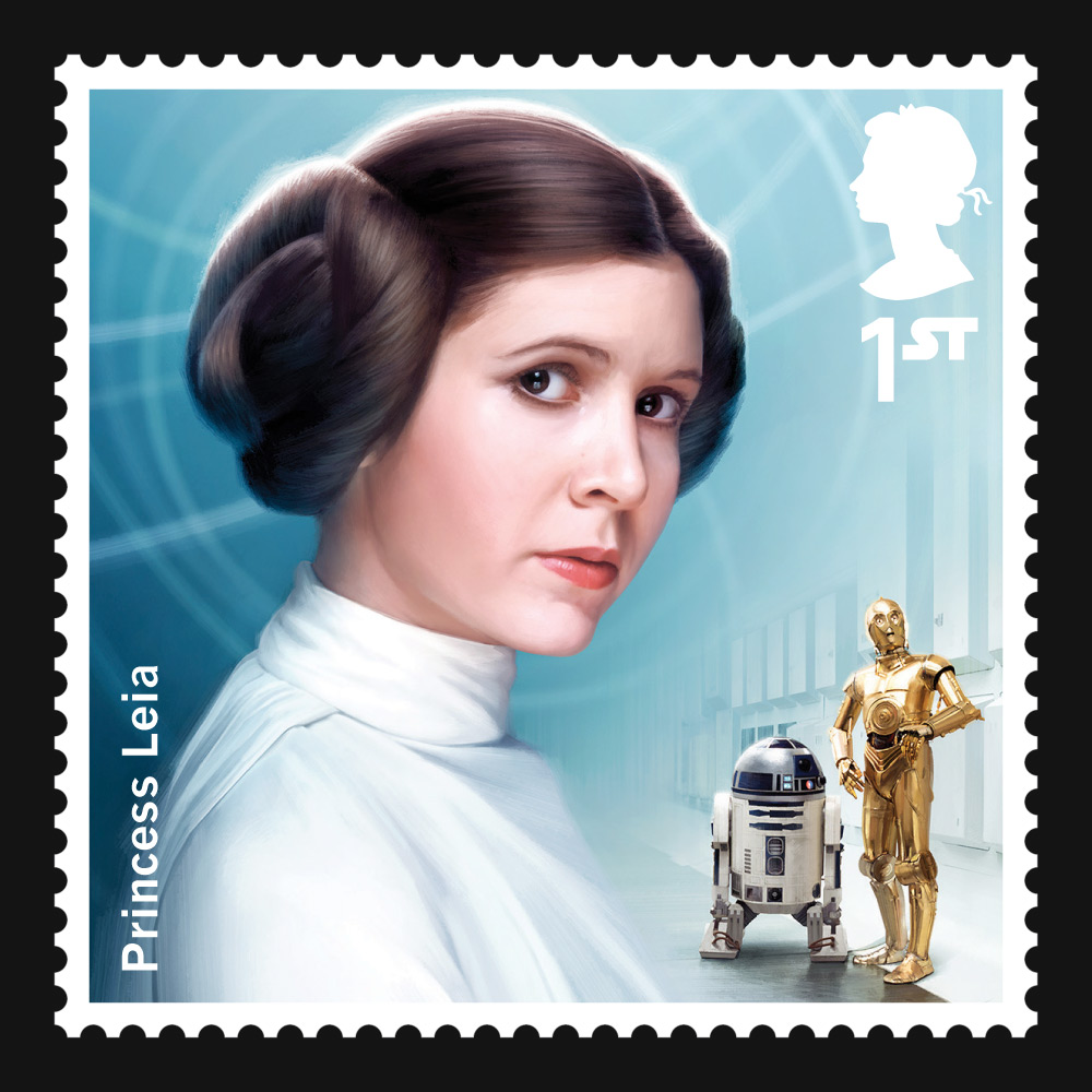 """UK's Royal Mail to Release """"Star Wars"""" Collectible Stamps ...Old Princess Leia"""