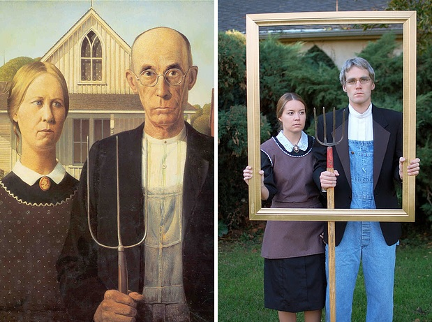 2 Grant Woods American Gothic
