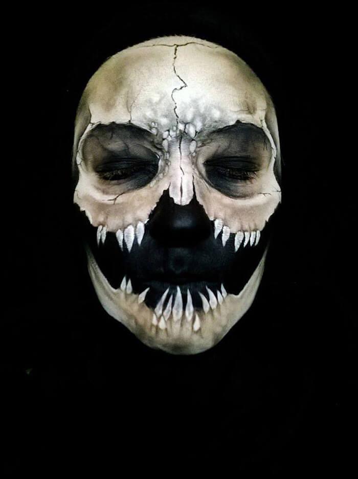 creepy halloween makeup by nikki shelley13__700 - Creepy Masks For Halloween