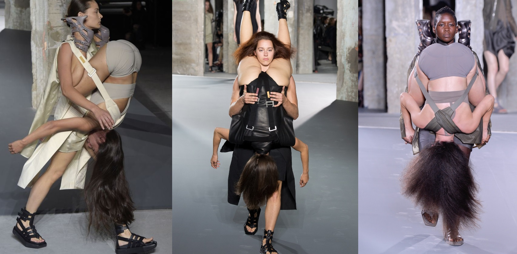 How Rick Owens Women Carrying Women Show Is A Symbol For Female