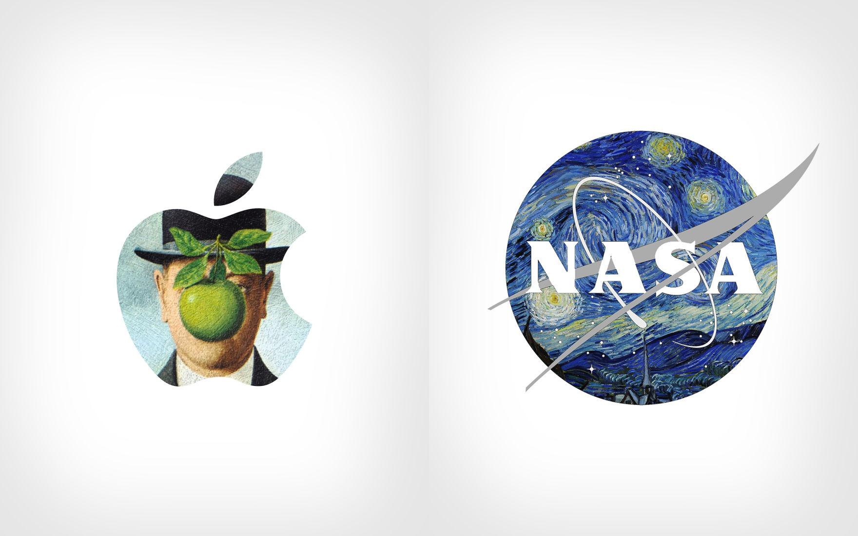 Graphic Designer Juxtaposes Popular Logos With Famous ...
