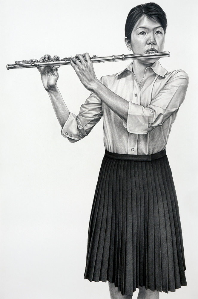 Flute-graphite-on-paper-45-x-29-inches-2007