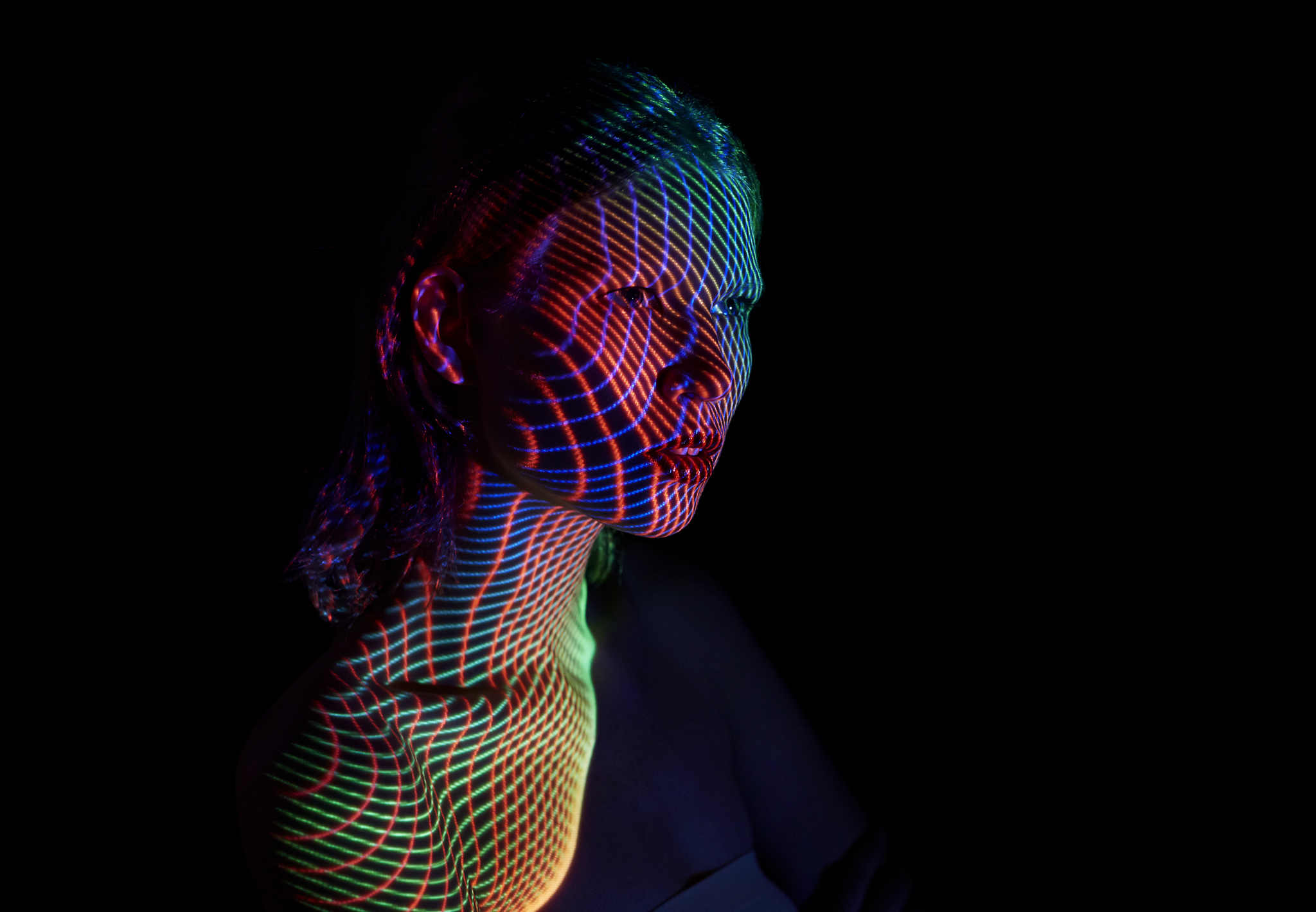 Mads Perchs Stunning Light Projections On Human Figures