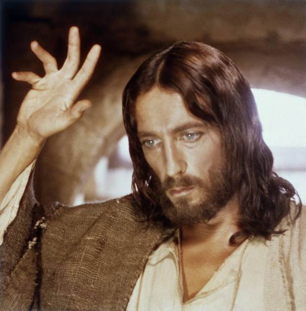"THE BIG EVENT -- ""Jesus of Nazareth"" -- Pictured: Robert Powell as Jesus Christ -- (Photo by: NBC/NBCU Photo Bank via Getty Images)"