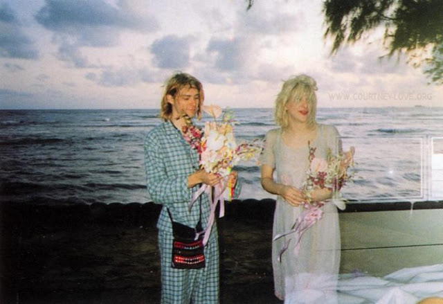 gallery for kurt cobain and courtney love wedding day