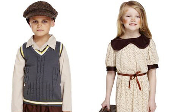 """Wartime Refugee Evacuee"" Costume Sold By a UK Fancy Dress Retailer is Yanked Off Amazon in Italy after Carnival Complaints Amazon.it has removed from its online catalog a ""refugee"" fancy dress costume for children after a barrage of complaints. The flap over the insensitive costume on sale for 24-30 Euros emerged the day after corpses of 20 children were retrieved from the Aegean sea, and dozens more were rescued in horrific, cold conditions as Mediterranean sea crossings continue through the winter. ""Maybe the company could invest the same money to buy a lifejacket for a child who perhaps finds him or herself in this moment in the middle of the sea,"" commented Oliviero Forti, of the Caritas Catholic charity. ""This commercial message in such a delicate moment in history is truly shameful and should be stigmatised."" Amazon.it agreed the product was ""in terrible taste"" and removed it from its online offerings. I had a look and it appears the UK retailer, Rugby-based ""Fancy Me"" is still selling the outfit featuring WW1 and WW2 era refugee girl and boy carrying tiny suitcases in the UK, on amazon.uk. The outfit is apparently frequently sold with an ""evacuee tag."""