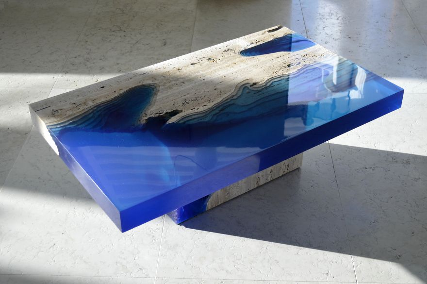 These Beautiful Lagoon Coffee Tables Look Like An Ocean Within Your House