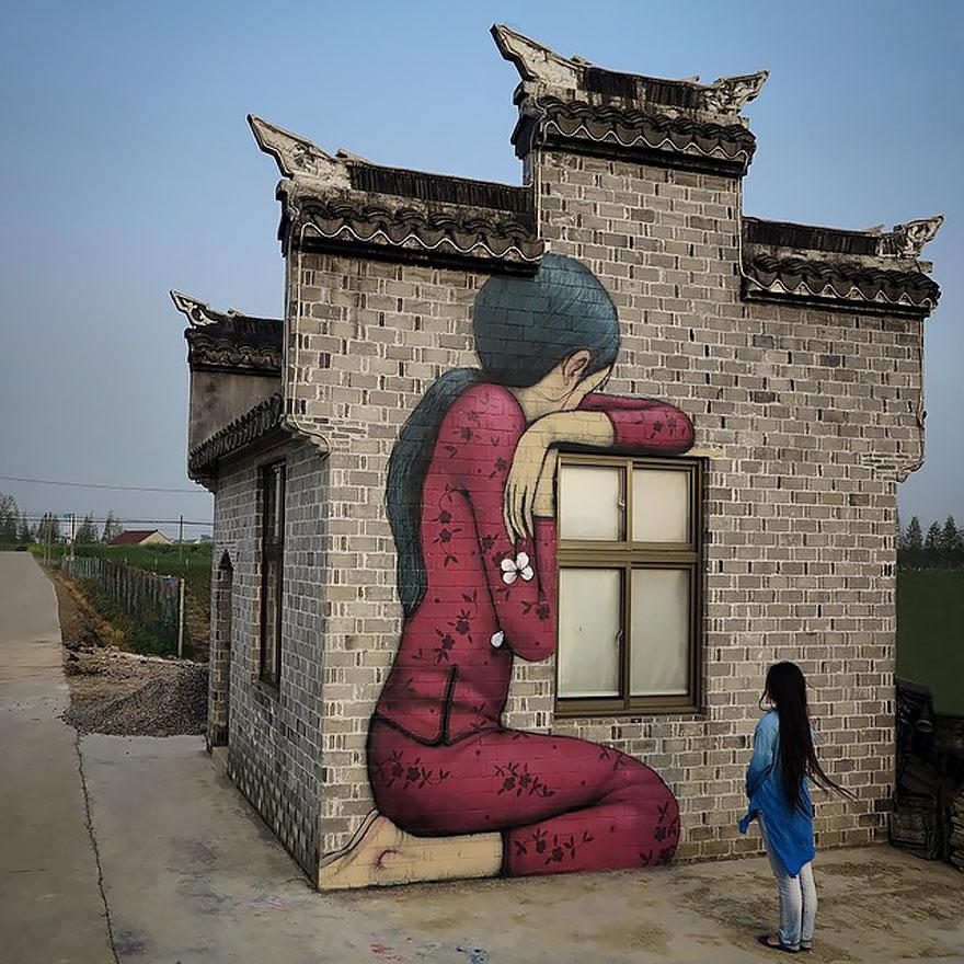 Street Artist Transforms Boring Buildings All Around The