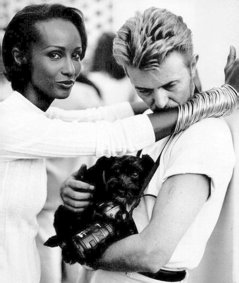 beautiful photos of david bowie and iman s 23 years of marriage art sheep. Black Bedroom Furniture Sets. Home Design Ideas