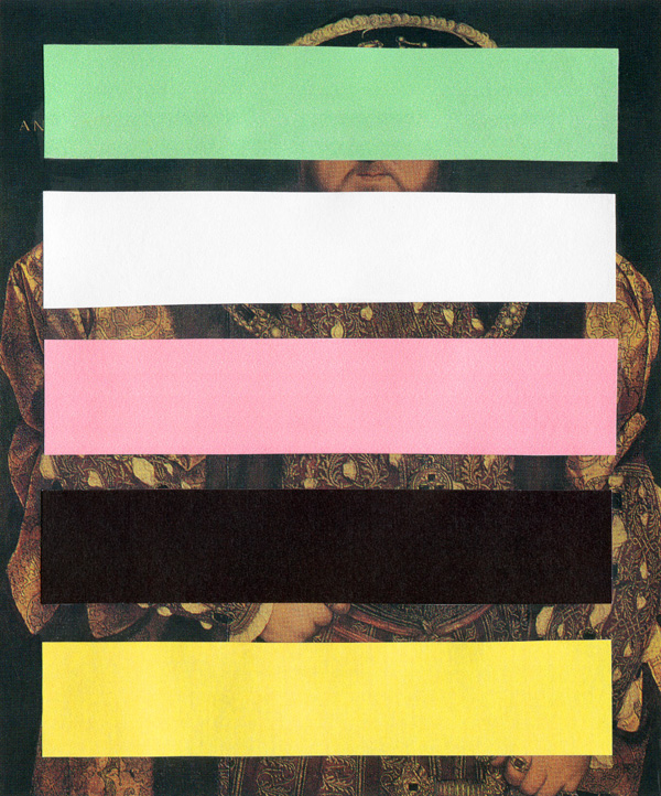 Henry-VIII-With-Bars---collage-on-found-print---2010---4,5-x-3,75---002