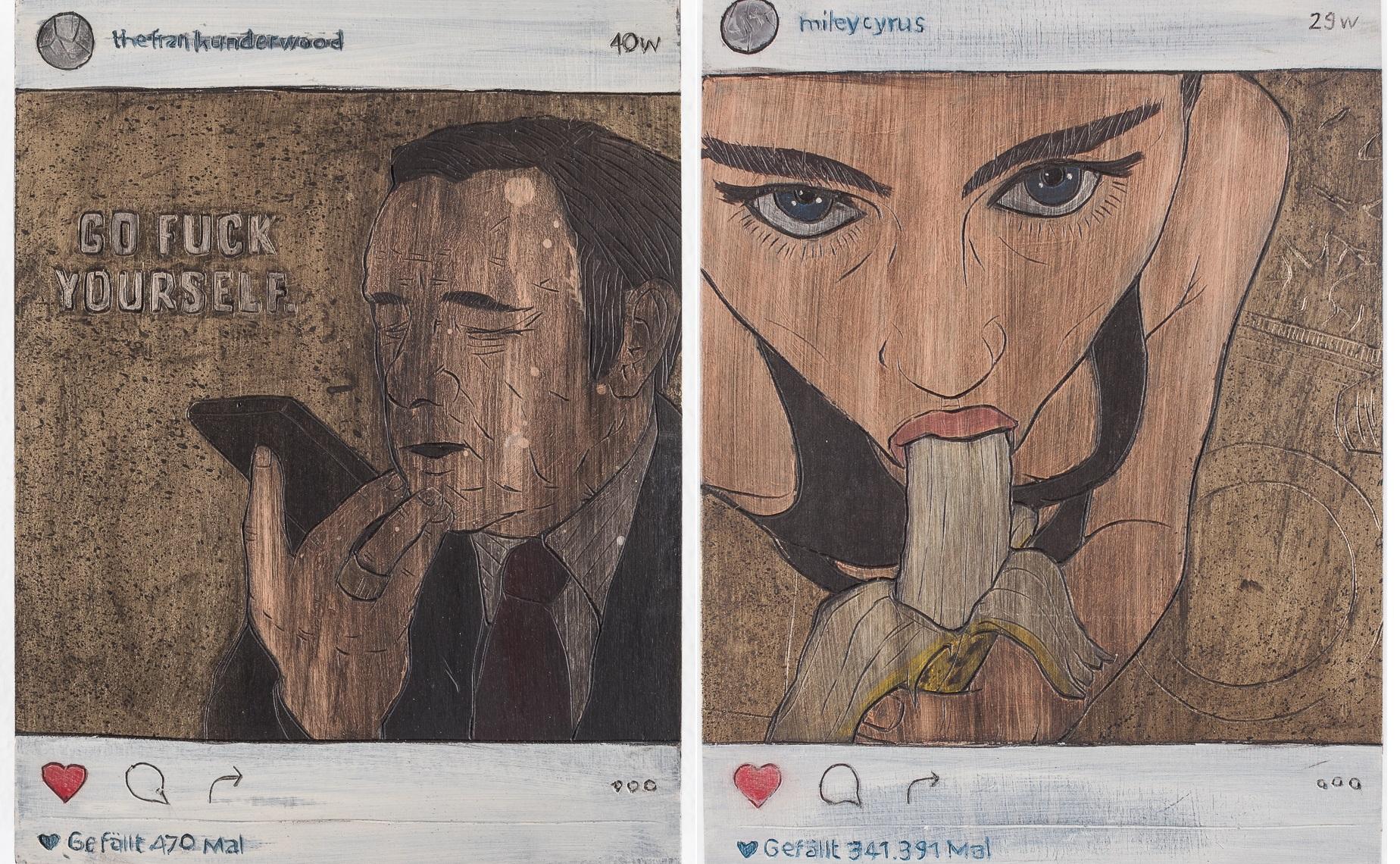 German artist turns famous Instagram posts into wooden handcrafts ...