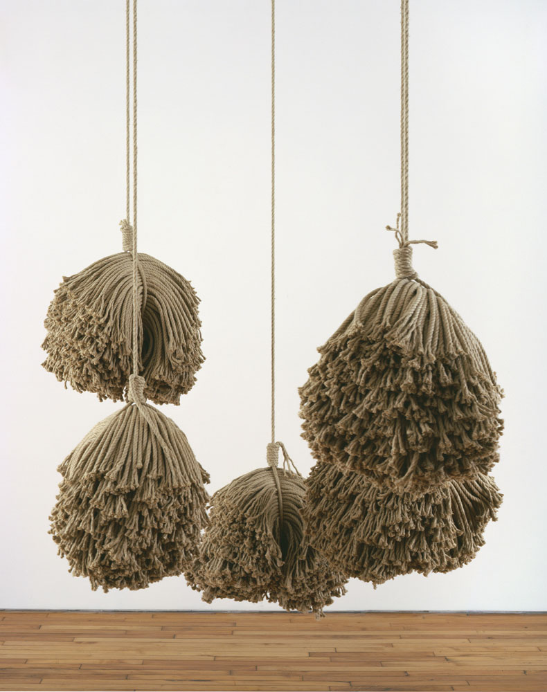 Alexandra Bircken, Reel Deal, 2011, Hemp rope 5 pieces, each approx. 21 x 19 x 16 inches, Overall dimensions variable