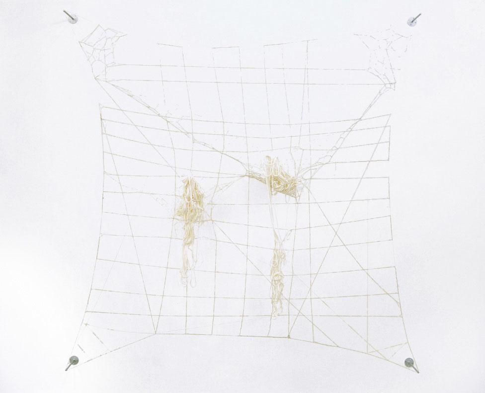 Alexandra Bircken, Spill, 2012, Wool, silk, linen, 225 x 235 x 12 cm
