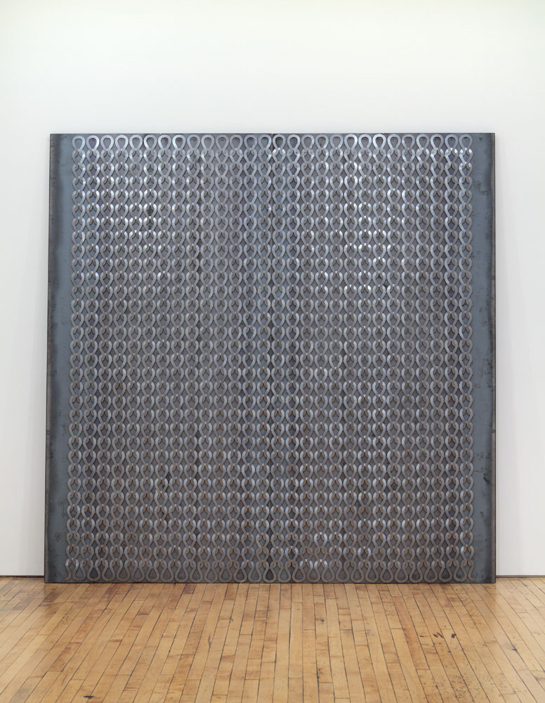 Alexandra Bircken, Uknit I, 2011, Steel magnets, 250 x 250 x 5.1 cm