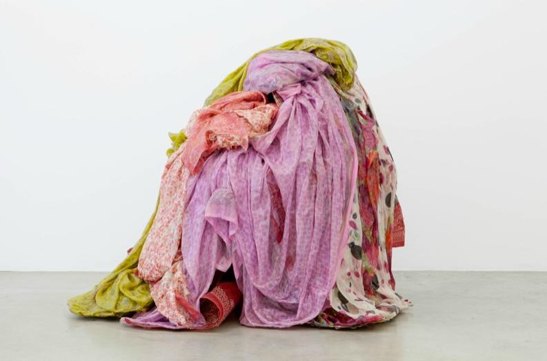 Bharti Kher, Saturate, 2011, cotton saris, resin, chair,