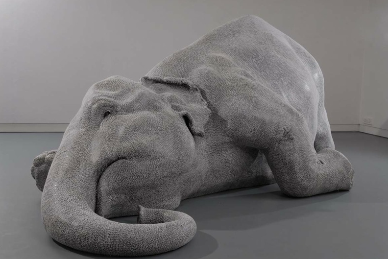Bharti Kher, The skin speaks a language not its own, 2006, fiberglass, bindis